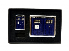 Doctor Who Police Box Tabaka ve Çakmak Seti