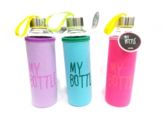Toptan My Bottle Cam Su Matarası 470 Ml