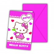 DAVETİYE HELLO KITTY HEARTS PK:6-24