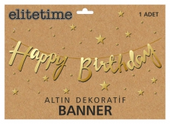 FLAMA HAPPY BRITHDAY METALİZE ALTIN PK:1 KL:300