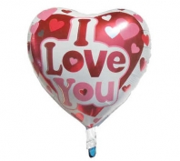 I Love You Yazılı Kalpli Folyo Balon